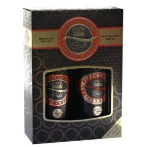 Black Caviar Набор косметический для женщин GOLD (шампунь 250 мл + гель д/душа 250 мл) с экстрактом черной икры и коллагеном 18