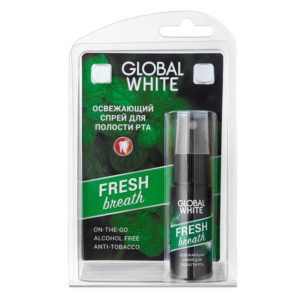 Global White Спрей для полости рта освежающий Fresh Breath, 15 мл 2
