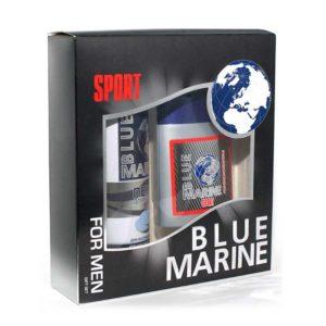 Festiva подарочный косметический для мужчин Blue Marine Sport (пена для бритья 200 мл + бальзам после бритья 150 мл) 75
