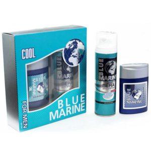 Festiva подарочный косметический для мужчин Blue Marine Cool (пена для бритья 200 мл + бальзам после бритья 150 мл) 3