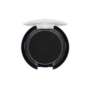 Dilon профессиональные компактные тени сверхтонкой текстуры Easy look для век с УФ-фильтром, тон 125 чёрный с серебряными блёстками 14