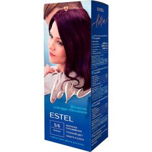 Estel Love Крем-краска стойкая для волос (50/2х25/15+перч), тон 5/6 божоле 10