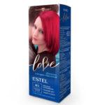 Estel Love Крем-краска стойкая для волос (50/2х25/15+перч), тон 8/5 гранатово-красный 1
