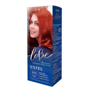 Estel Love Крем-краска стойкая для волос (50/2х25/15+перч), тон 8/54 красная медь 5