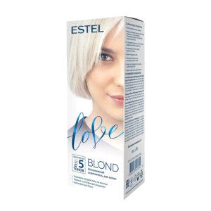 Estel Love Blond Осветлитель интенсивный для волос (до 5 тонов) (2х37.5 мл/2х12.5 г/5 мл/15 мл + перчатки) 1