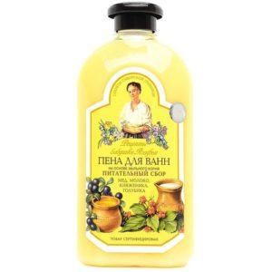 Рецепты Бабушки Агафьи Пена для ванн (мёд, молоко, княженика, голубика), 500 мл 1