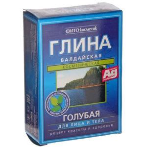 Fito косметик Глина голубая валдайская для лица и тела, 100 г 2