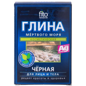 Fito косметик Глина чёрная мёртвого моря для лица и тела, 100 г 1