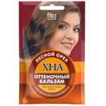 Fito косметик Бальзам оттеночный хна с экстрактом льна и Д-панетенолом цвет лесной орех, 50 мл 1