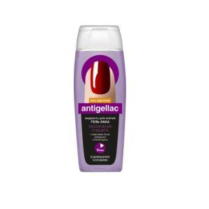 Fito косметик Жидкость для снятия гель-лака Antigellac увлажнение и защита с маслом льна, ромашки и календулы (без ацетона), 110 мл 4