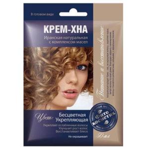 Fito косметик Крем-хна в готовом виде бесцветная укрепляющая с комплексом масел для волос, 50 мл 2