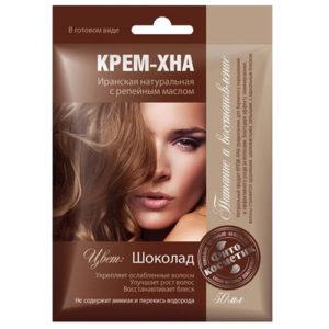 Fito косметик Крем-хна иранская натуральная с репейным маслом в готовом виде цвет шоколад, 50 мл 2