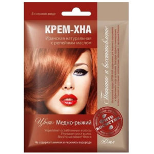 Fito косметик Крем-хна иранская натуральная с репейным маслом в готовом виде цвет медно-рыжий, 50 мл 6