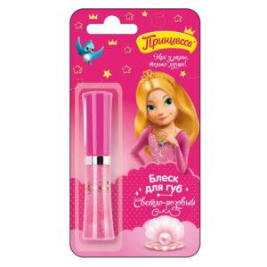 Принцесса Блеск детский для губ Светло-розовый с маслом ши, УФ-фильтр, 5 мл 5
