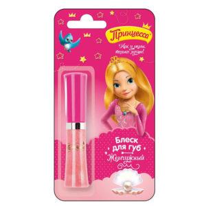 Принцесса Блеск детский для губ Жемчужный с маслом ши, УФ-фильтр, 5 мл 8