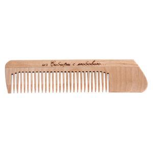 Cute-Cute Гребень без ручки для расчёсывания волос (дерево) 3