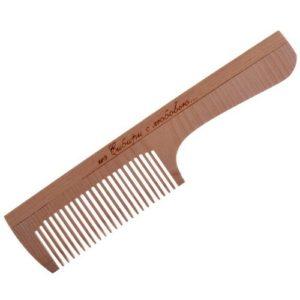 Cute-Cute Гребень частый с ручкой для расчёсывания волос (дерево) 19