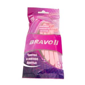 Slav&Co Bravo II Станки бритвенные одноразовые, 2 лезвия (5 шт в пакете, розовый) 7