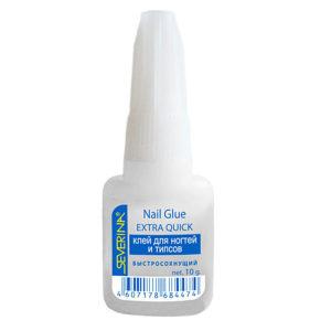 Severina Клей для ногтей и типсов Быстросохнущий с кисточкой Nail Glue Extra Quick, 10 г 11