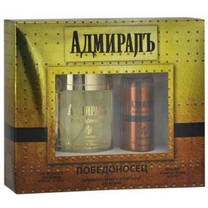Sergio Nero Набор парфюмерно-косметический для мужчин Адмиралъ Победоносецъ (edt 100 мл + парф гель для душа 100 мл), 1 шт 4