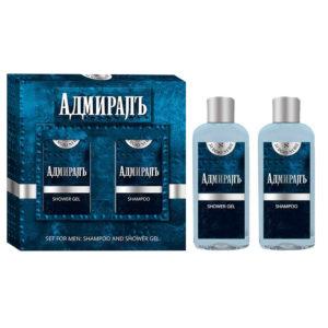Sergio Nero Набор косметический для мужчин Адмиралъ (шампунь, 150 мл + парфюмированный гель для душа, 150 мл) 8