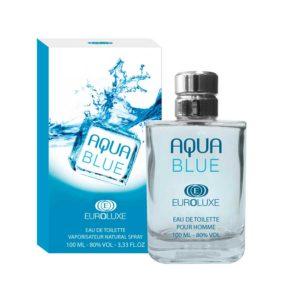 Euroluxe Туалетная вода для мужчин Aqua Blue (Аква блю) водяной, фужерный, 100 мл 8