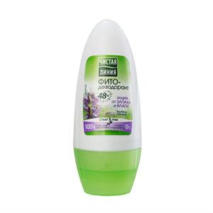 Чистая линия Фито-дезодорант 48 ч защита от запаха, 50 мл 43