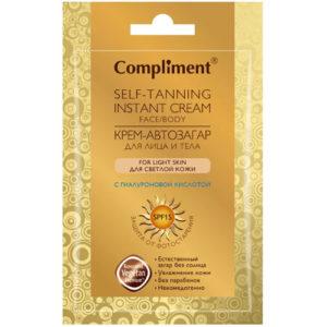 Compliment Крем-автозагар для лица и тела для светлой кожи, 15 мл 1