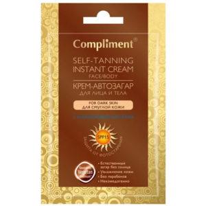Compliment Крем-автозагар для лица и тела для смуглой кожи, 15 мл 2