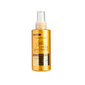 Compliment спрей-автозагар для тела для всех типов кожи с аргановым маслом, витаминами A, B, E 4