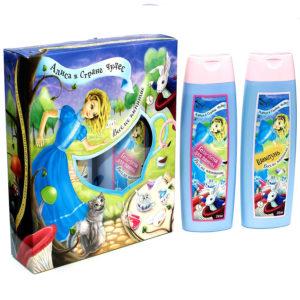 Алиса Набор косметический детский Веселое чаепитие (шампунь 250 мл + гель-пена для ванны 250 мл) 1