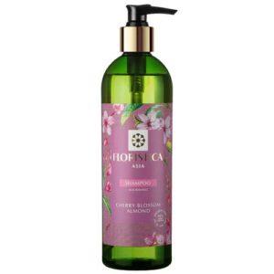 Floristica Asia Шампунь для всех типов волос питание и восстановление вишневый цвет, миндаль, 345 мл 4