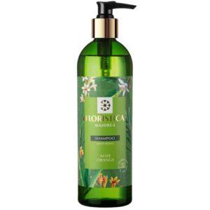 Floristica Majorca Шампунь для всех типов волос глубокое увлажнение алоэ, апельсин, 345 мл 18