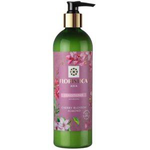 Floristica Asia Кондиционер для всех типов волос питание и восстановление вишневый цвет, миндаль, 345 мл 2