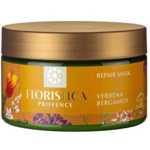 Floristica Provence Маска для окрашенных и поврежденных волос интенсивное восстановление вербена лимонная, бергамот + витамины, 250 мл 64