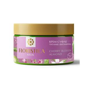 Floristica Asia Крем-суфле питание + витамины вишневый цвет, миндаль, 250 мл 3
