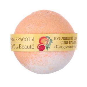 le Café de Beauté Бурлящий шарик для ванны Цитрусовый сорбет с маслом грейпфрута и маслом апельсина 9