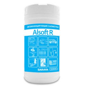 Saraya Alsoft R Дезинфицирующее средство (салфетки) 13 х 17 см, 80 шт 7