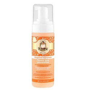 Рецепты Бабушки Агафьи Пенка для умывания воздушная морошковая очищение и сияние кожи, 150 мл 2