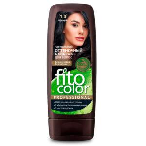 Фитокосметик Fito color Бальзам оттеночный натуральный для волос, тон 1.0 чёрный, 140 мл 6