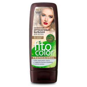 Фитокосметик Fito Color Бальзам оттеночный натуральный для волос, тон 10.1 платиновый блондин, флакон 140 мл 3