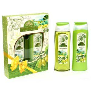 Festiva подарочный для женщин Provance Olive (шампунь 250 мл + гель для душа 250 мл) 4