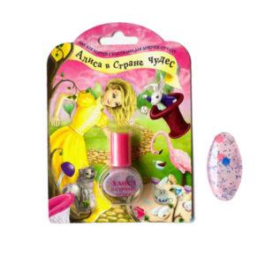 Алиса Лак для ногтей с блёстками для девочек Волшебное приключение Nail Lacquer, 5 мл 5