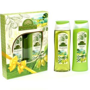 Набор подарочный для женщин Provance Olive mini (шампунь 250 мл + гель для душа 250 мл) 15