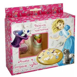 Алиса Набор детской декоративной косметики Весёлое чаепитие (бальзам для губ Яблоко + лак для ногтей ) 4