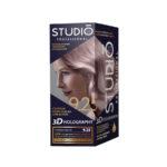 Studio Professional Крем-краска стойкая для волос 3D Holography, тон 9.25 розовое золото 1