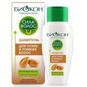"""Биокон Шампунь для сухих и ломких волос """"аргана"""", 215 мл 75"""