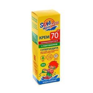 Биокон Sun Maina Kids Крем для особо чувствительных участков лица и тела SPF 70, 50 мл 1