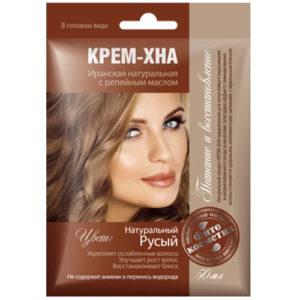 Fito косметик Крем-хна иранская натуральная с репейным маслом в готовом виде цвет натуральный русый, 50 мл 5