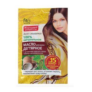 Фитокосметик Н-рецепты Масло для волос Дегтярное с экстрактами красного перца, чабреца, можжевельника, саше 20 мл 6